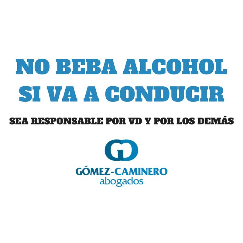 no beba alcohol si va a conducir